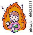 やる気で燃える女の子 66928225