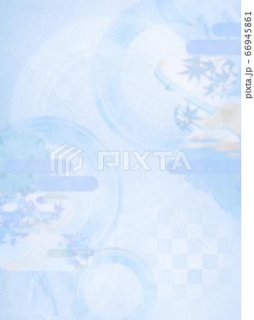 淡い色の和風背景素材-清涼感-和紙-夏-水紋-波紋 66945861