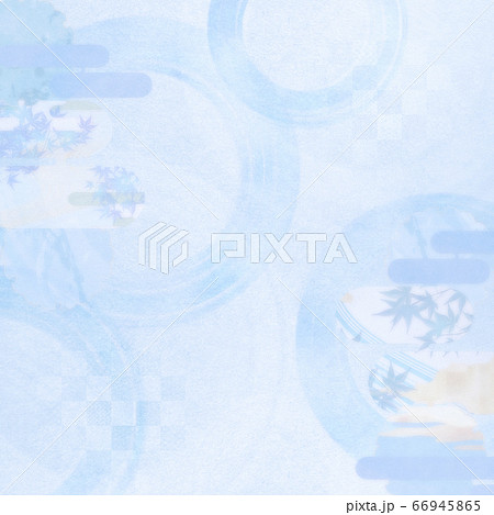 淡い色の和風背景素材-清涼感-和紙-夏-水紋-波紋 66945865