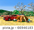 冬のオートキャンプ 66946183