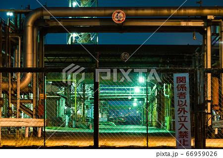 【大阪・工場夜景】柵の向こうの世界 66959026