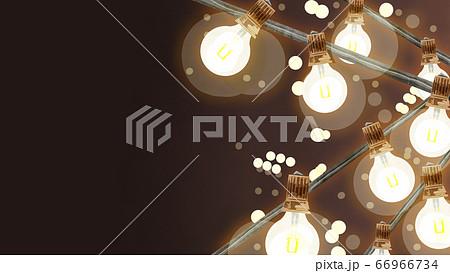 ライトアップイルミネーションイラスト 66966734