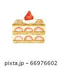 苺のミルフィーユ 水彩風イラスト 66976602