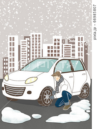Cartoon of people health care in winter illustration 006 66985807