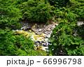 塩原温泉を流れる鹿股川 66996798