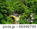 塩原温泉を流れる鹿股川 66996799