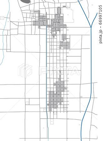 戦国時代(天正年間始め頃)の京都市街(上京・下京)地図 町名・道名あり 66997105