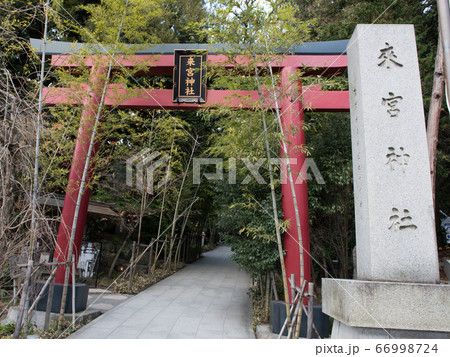 静岡の熱海にあるパワースポットの来宮神社の鳥居と参道 66998724