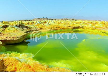 エチオピア・ダナキル砂漠のダロール火山 67009341