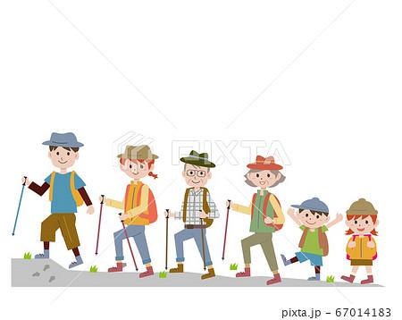 家族で登山 67014183