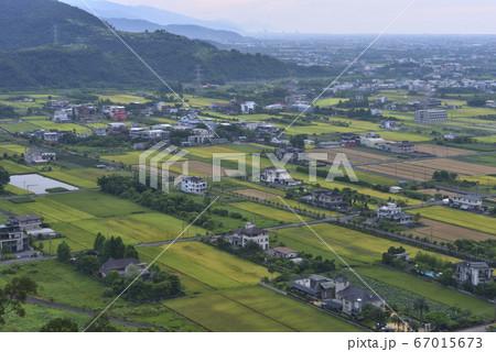 稻田,農作物,房子,稻田拼布,山,蘭陽平原 67015673