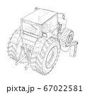 Electric Farm Tractor Charging Station Sketch 67022581