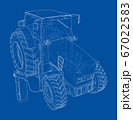 Electric Farm Tractor Charging Station Sketch 67022583