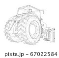 Electric Farm Tractor Charging Station Sketch 67022584