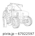 Electric Farm Tractor Charging Station Sketch 67022597