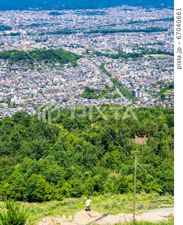 大文字山から眺める京都の町並み 銀閣寺周辺 67040661