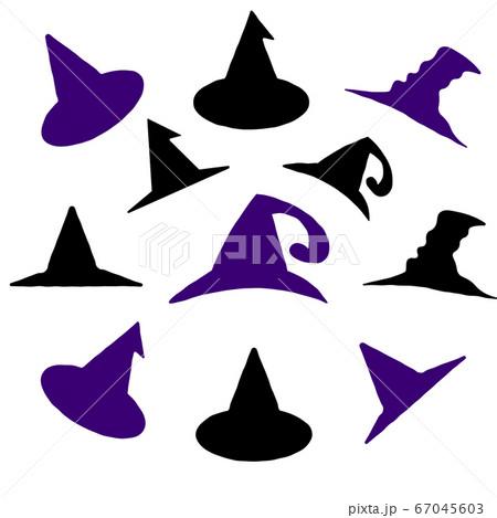 ハロウィーン魔女の帽子いろいろセット 67045603