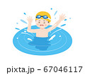 プールで溺れる少年のイラスト 67046117