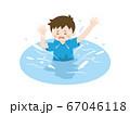 川で溺れる少年のイラスト 67046118