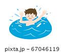 海で溺れる少年のイラスト 67046119
