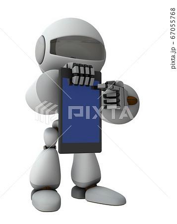 タブレット端末でインフォメーションを提示するロボット 67055768