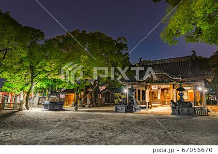 真夜中の津田天満神社(兵庫県姫路市飾磨区構)※作品コメント欄に撮影位置 67056670
