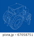Electric Farm Tractor Charging Station Sketch 67058751