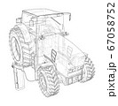 Electric Farm Tractor Charging Station Sketch 67058752