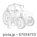 Electric Farm Tractor Charging Station Sketch 67058755