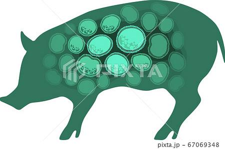 豚インフルエンザ - イメージ・グリーン 67069348