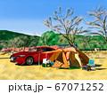 冬のオートキャンプ 67071252