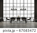 Industrial loft dining room 3d render 67083472