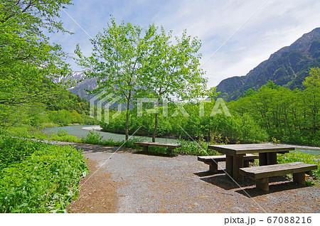上高地の風景(田代橋、穂高橋周辺の絶景) 67088216