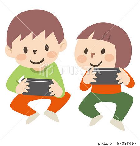 ゲームをする子供のイラストレーション 67088497