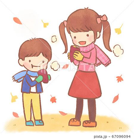 焼き芋を食べる子供jpg 67096094