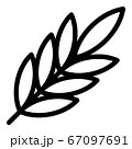 Spices leaf branch icon, outline style 67097691