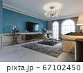 Living room interior in classic Mediterranean 67102450