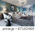 Living room interior in classic Mediterranean 67102460