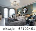 Living room interior in classic Mediterranean 67102461