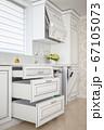 Luxury modern classic white kitchen interior 67105073