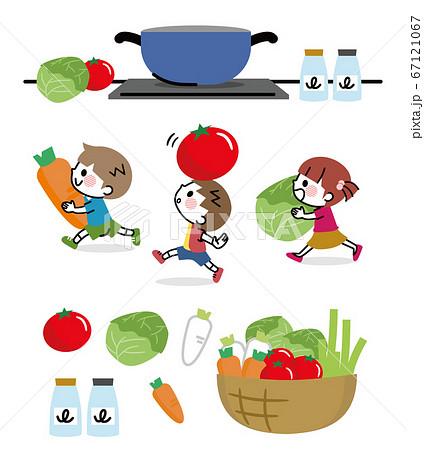 野菜 子ども 食育 セット 67121067