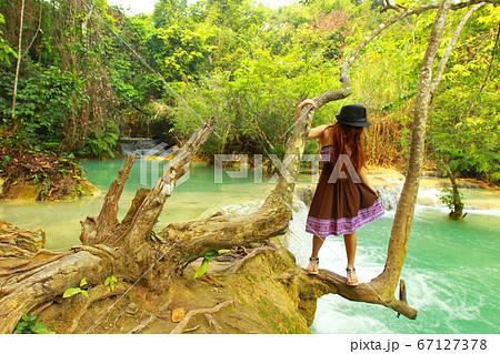 ラオス タート・クアンシーの滝公園、自然の展望台 67127378