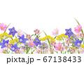 秋の庭水彩画 67138433
