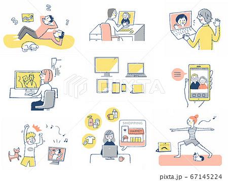 様々なオンラインシーン セット 67145224