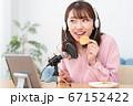 YouTubeで咀嚼音を配信する若い女性 67152422