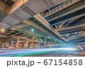大阪・阿波座ジャンクションの夜景 67154858