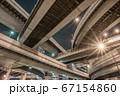 大阪・阿波座ジャンクションの夜景 67154860