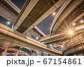 大阪・阿波座ジャンクションの夜景 67154861