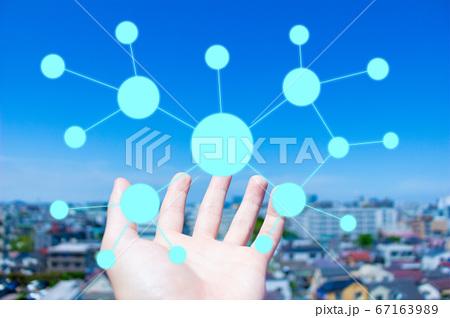 IT オンラインネットワークイメージ素材 67163989