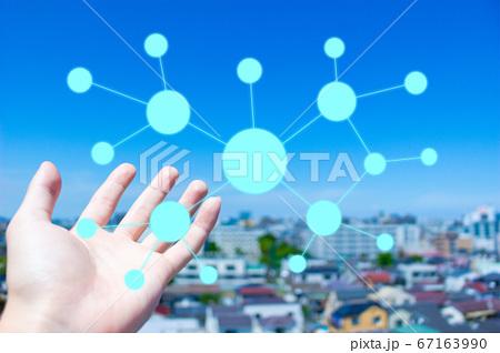 IT オンラインネットワークイメージ素材 67163990